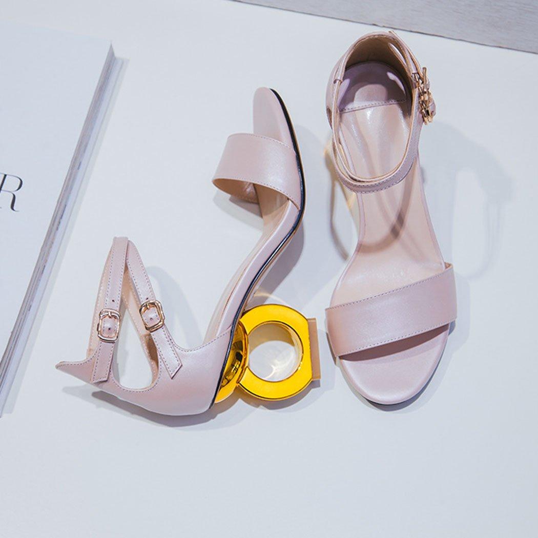9786410fc GAOLIXIA Mujer Zapatos Sandalias Novedad Tacones Correa de Tacón Zapatos de  Tacón Alto Moda Sandalias de Tacón Alto Rosa Blanco  Amazon.es  Deportes y  aire ...