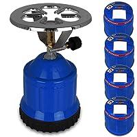 Gasgrill blau klein Gas Barbecue 1-flammig Balkon Camping Picknick ✔ rund ✔ Grillen mit Gas
