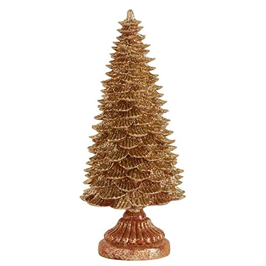 Shimmering Gold Glitter Christmas Tree Table Top Christmas Decorations