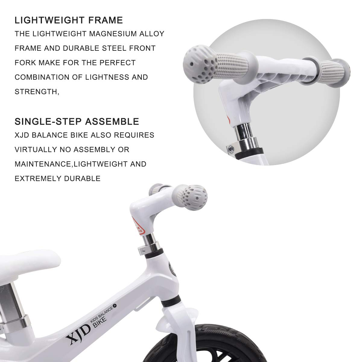 XJD Kids Balance Bike No Pedal Bicycle for Ages 18 Months to 5 Years Magnesium Best Sport Push Bicycle Bike for 2 Year Old Boys Girls Toddlers Kids Bikes First Children Walker Bike