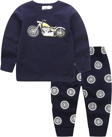 Miyanuby Bebé Niños Niña Pijama Set Invierno Otoño Manga Larga Algodón Ropa de Dormir Pijama 2 Piezas Conjunto de Ropa: Amazon.es: Ropa y accesorios