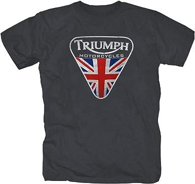 Triumph Motorcycle England Retro Motorcycle T-Shirt S-XXL Dark M