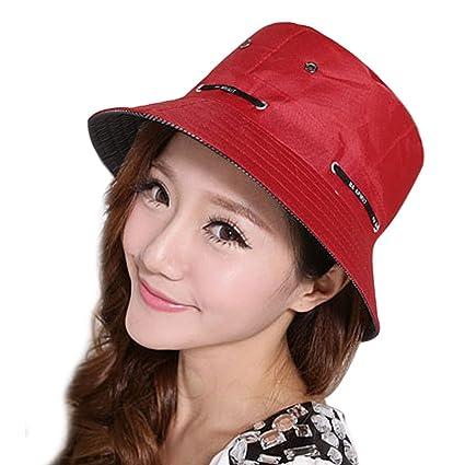 37d5b839 Womens Summer Sun Hat Roll Up Floppy Packable Sunhat Beach Cap Travel  Bucket Hat Golf Fishing Peaked Hat Sun Visor Bonie Fisherman Hat Anti-UV Sun  ...