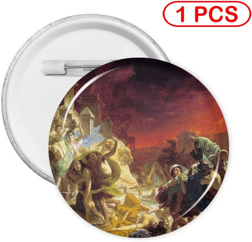 YXXZ The Last Day of Pompeii Round Badge Brooches and Pins Accessories Multiple Packs