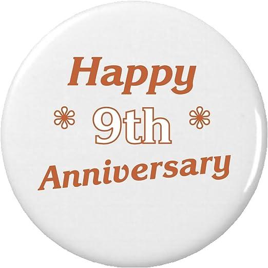 Amazoncom Happy 9th Ninth Anniversary 225 Keychain Clothing