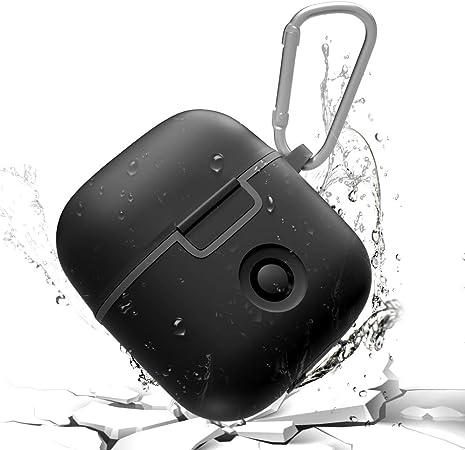 Addacc Airpods Wasserdichte Schutzhülle Für Airpods Stoßfeste Tpu Hülle Airpods Hülle Mit Schlüsselanhänger Staubresistent Airpods Ladehülle Kompatibel Für Apple Airpods Schwarz Elektronik