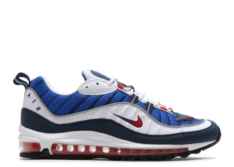 Nike Air Max 98, Scarpe da Trail Running Uomo, Bianco (White/University Red/Obsidian 100), 45 EU