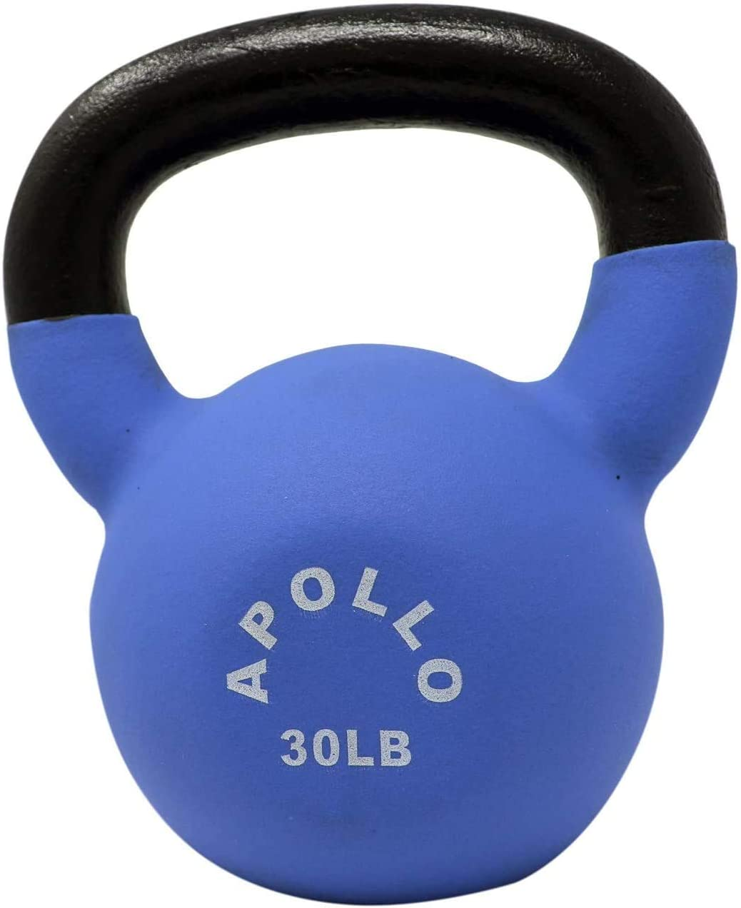5~30LB Weight Available Apollo Athletics 1-Pair Neoprene Coated Solid Cast Iron Kettlebell