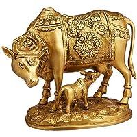 Nandi Cow and Calf Brass Idol Statue/Idol/Showpiece/Decorative Diwali Gift Kamdhenu Brass Item/Home Decor/Office…