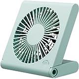 ドウシシャ 卓上扇風機 スリムコンパクトファン ピエリア 3電源(AC,USB,乾電池) ブルー FSS-106U BL
