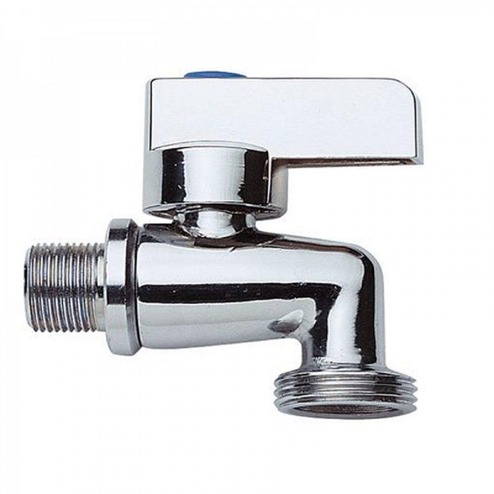 Gerä teventil / Kombi-Eckventil / Maschinenventil / Maschinenanschluss fü r Waschmaschinen / aus Messing / hochwertig verchromt / massiv Gariella DA-A690