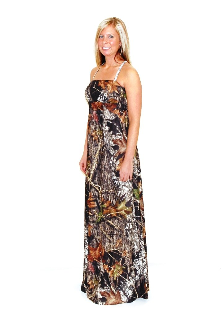 Camo Diva Mikayla Camo Sequins Strap Prom Gown 2X Camouflage by Camo Diva