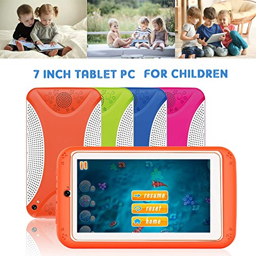 7'' Kids Tablet PC, Q798 Android 4.4 8GB ROM 512MB RAM Tablet Dual Camera WiFi USB Phablet Silicone Case by XINSC (Image #5)