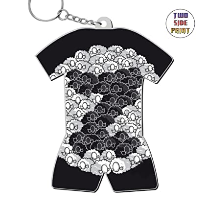 Amazon Com Funny Keychain Counting Sheep Keyring World Cup Polo