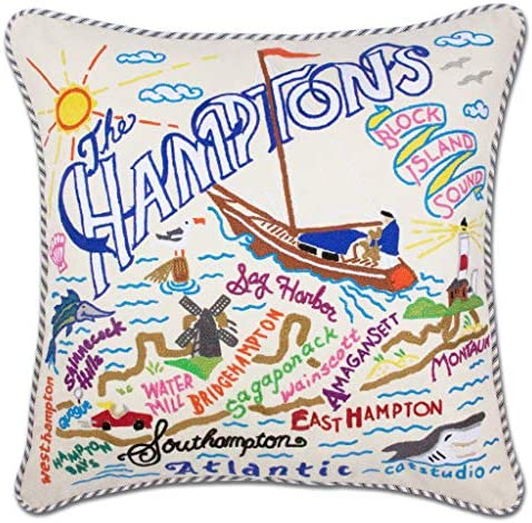 Catstudio Hamptons Embroidered Decorative Throw Pillow