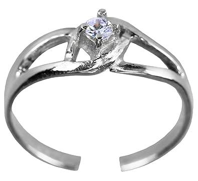 Amazoncom Lavender Jewel Toe RingAdjustable Silver Color