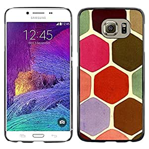"""Pulsar Snap-on Series Teléfono Carcasa Funda Case Caso para Samsung Galaxy S6 , Hexágono Escala Modelo rosado de Moss"""""""