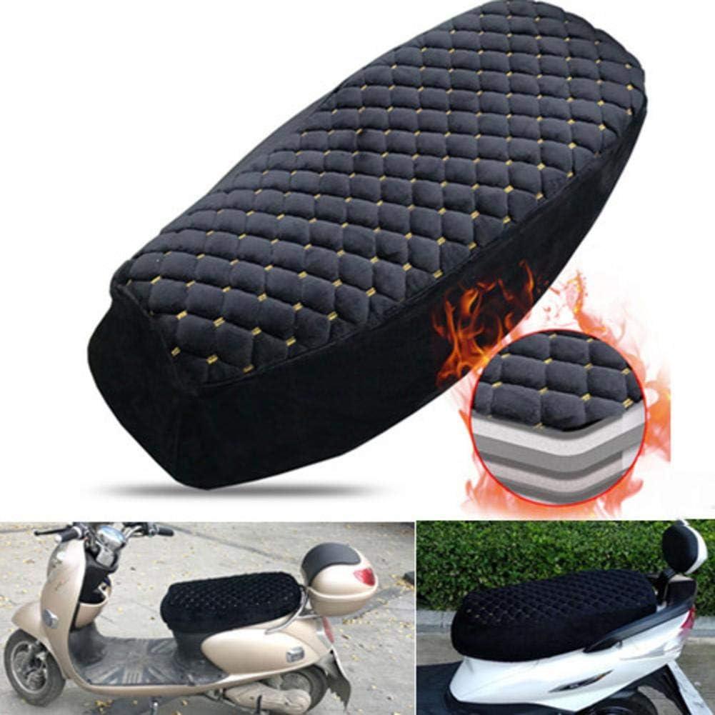 Roller Sitzbezug Kissen Motorrad Sitzpolster Elektroauto Pl/üsch Warmhaltender weicher Sitzschutz Motorrad Sitzschutzbezug