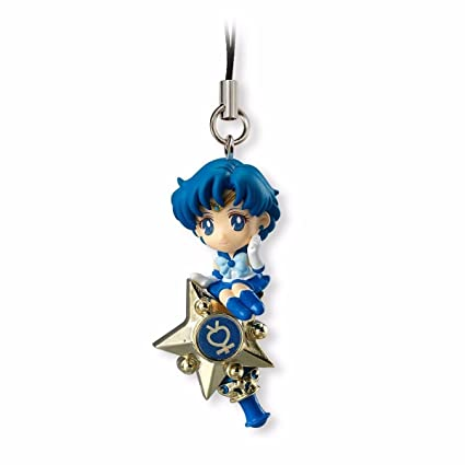 Bandai Shokugan Sailor Moon Twinkle Dolly (Volume 1) Sailor Mercury with Rod Deformed Mascot Charm