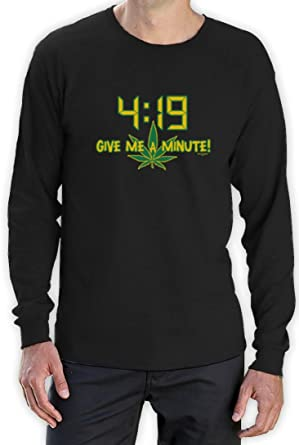 4:19 Give me a Minute! high Quality very comfortable Langarm T-Shirt:  Amazon.de: Bekleidung