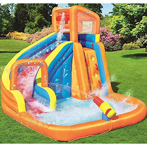 DSHUJC Bouncy Castle, Outdoor Large-Scale Playground Inflatable Toy Pool with Water Slide Water Gun Climbing Wall for Garden Outdoor, 365 320 270cm