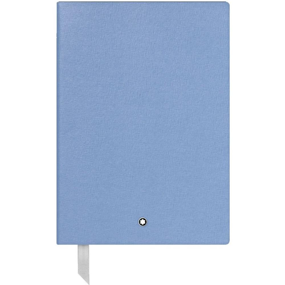 Montblanc Fine Stationary Unisex 146 Light Blue Lined Leather Notebook Accessories 116517