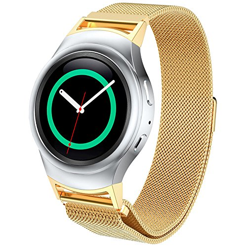 dbmood-mesh-watch-band-for-samsung-gear-s2-rm-720-smart-watchstainless-steel4-color826-inches-gold