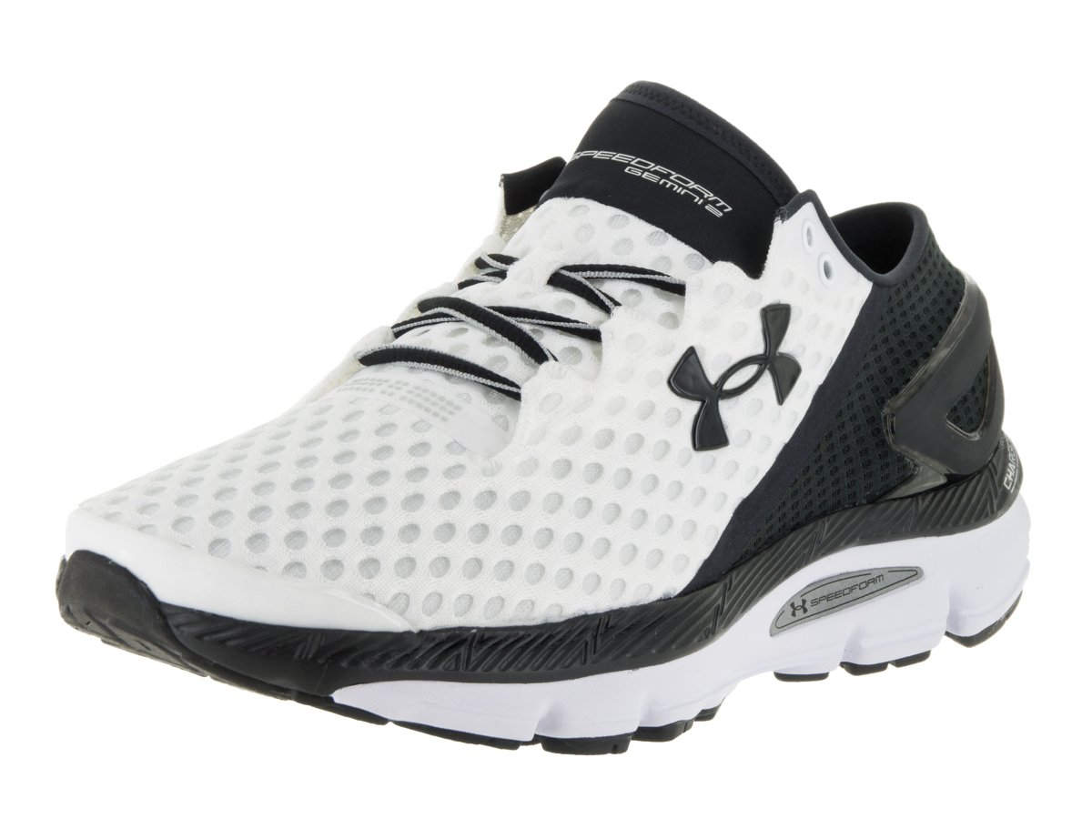 Under Armour Speedform Gemini 2 Running Shoes - SS16 B00ZVE95A6 9 D(M) US|White/Black/Metallic Silver