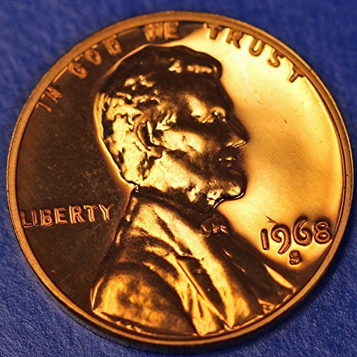 (1968 S Lincoln Memorial Penny Cent Gem Proof US Mint)