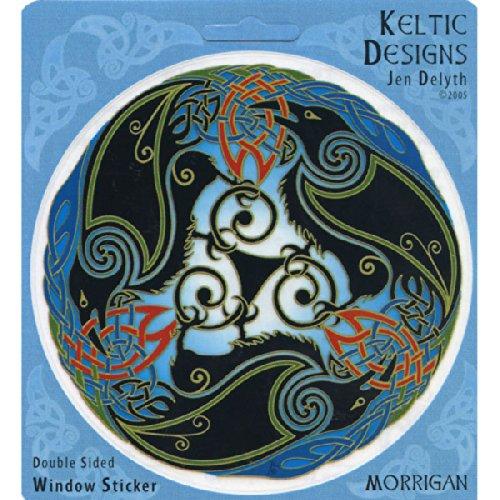 Peacemonger Celtic Ravens Art Decal Window Sticker ()
