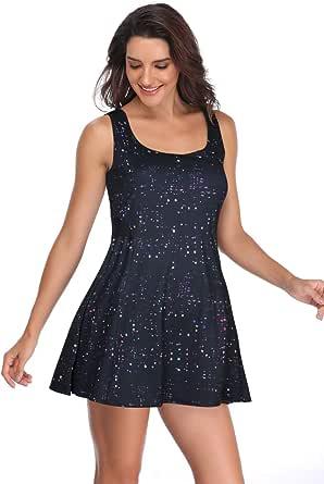 Meja Women's Tennis Dress, Sleeveless Sport Dress for Golf Badminton Running Workout Casual Girl's Sportwear Club Dress