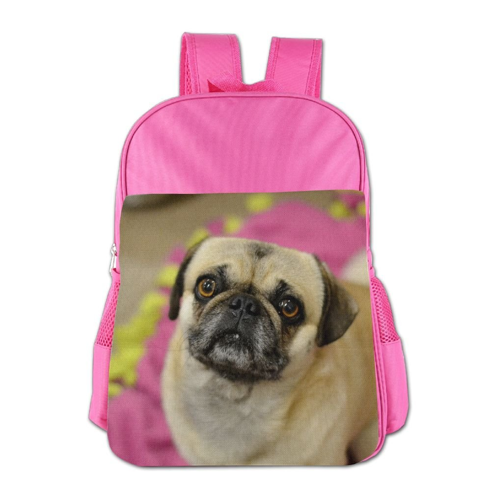 cnjellaw軽量学生ミニバックパックキュートPugs印刷子ショルダースクールバッグキュート旅行用デイパックピンク One Size ピンク EC132ckAMN-36955438-Pink-29 B07DPKWSG7 ピンク One Size