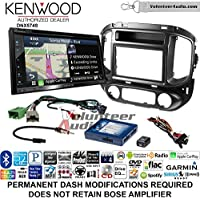 Volunteer Audio Kenwood DNX574S Double Din Radio Install Kit with GPS Navigation Apple CarPlay Android Auto Fits 2015-2017 Chevrolet Colorado, GMC Canyon