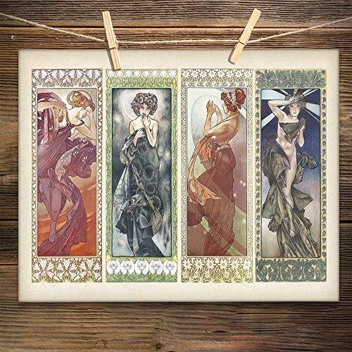 Art Deco Alphonse Mucha Paintings Art Print 11x14 Unframed Art Print