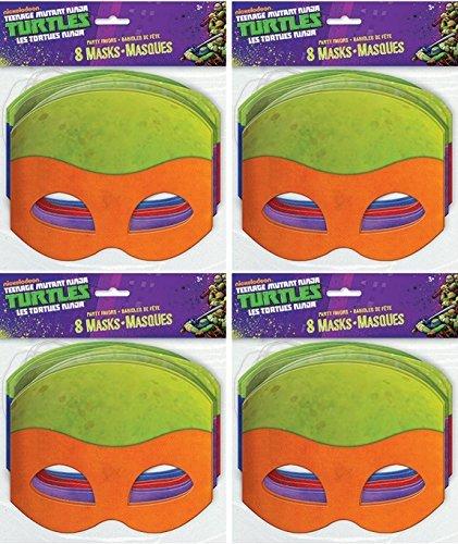 Paper Teenage Mutant Ninja Turtles Masks, Assorted 8ct (4)
