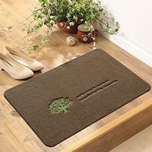 XBR Alfombrillas Antideslizantes alfombras Antideslizantes Pad Mat como Absorbente de Agua Polvo,Cachorro Gris,60 * 90