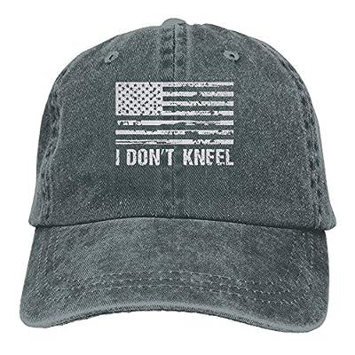 TeeStars - I Dont Kneel Hat Snap-Back Hip-Hop Cap Baseball Hat Head-Wear Cotton Snapback Hats Red from JXSED
