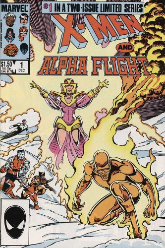 X MEN & ALPHA FLIGHT #1-2 Complete Limited Series (X MEN ALPHA FLIGHT (1985 MARVEL))