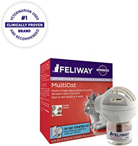 Feliway 30 Day Multicat Diffuser Plug-in Starter Kit