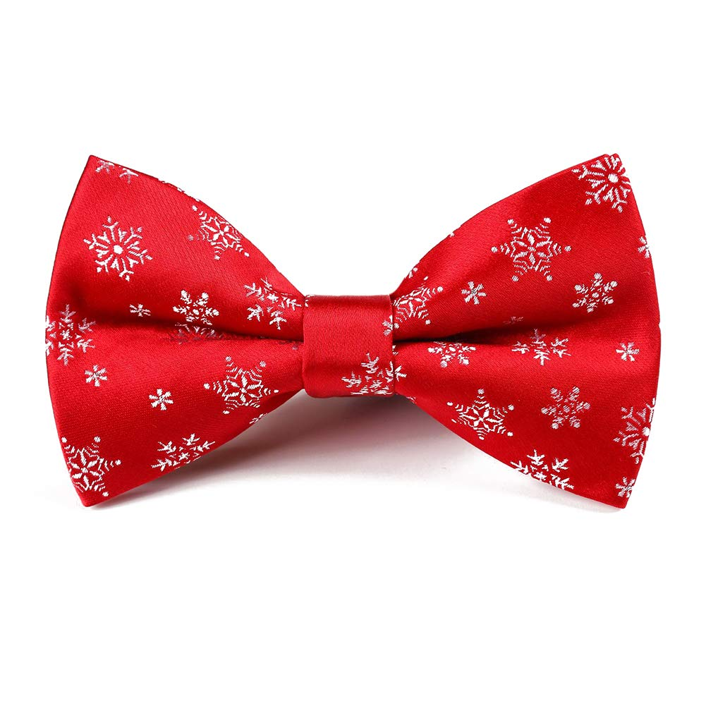 Dertring 6 PCS/LOT Christmas Bow Ties Woven Pre-tied Bowtie for Men's Neckwear Gifts MIX3-4)