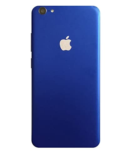 cheaper 77b3f cf049 GADGETS WRAP Oppo F1s Blue Mettalic Apple Logo Design Back Skin. A2A02