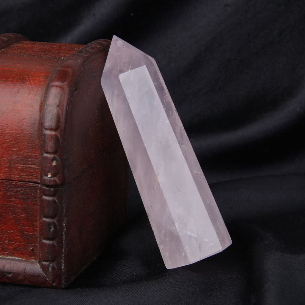 Natural Pink Rose Quartz Crystal Point 80-110mm