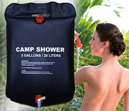Kytra PVC 20L Foldable Solar Energy Heated Camp Shower Bag