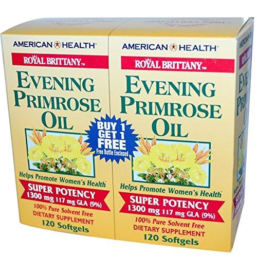 海外直送品American Health Evening Primrose Oil Super Potency, 120+120 Sftgls 1300 MG B000152IKY