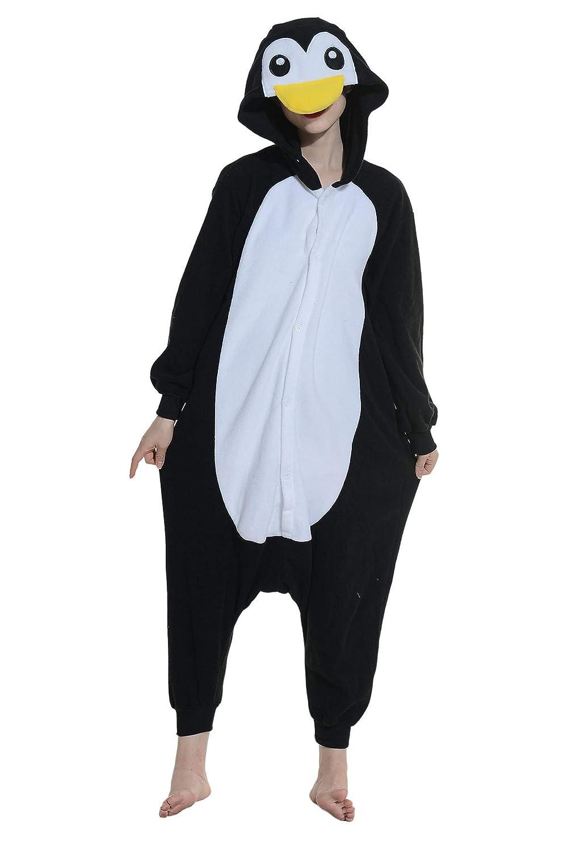 Pigiama Animati Adulti Kigurumi Pinguino Nero Cartoni Animale Cosplay da Unisex DR-HESQE