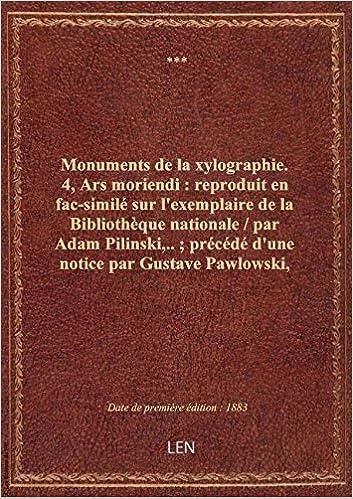 Amazon Fr Monuments De La Xylographie 4 Ars Moriendi