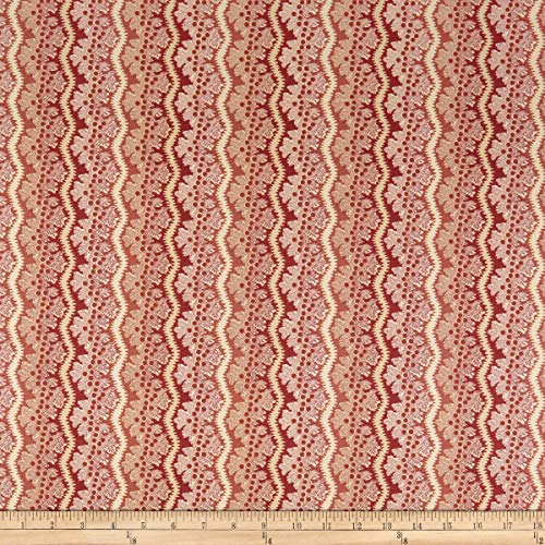 (Andover Windermere Lace Fabric, Rose, Fabric By The Yard)
