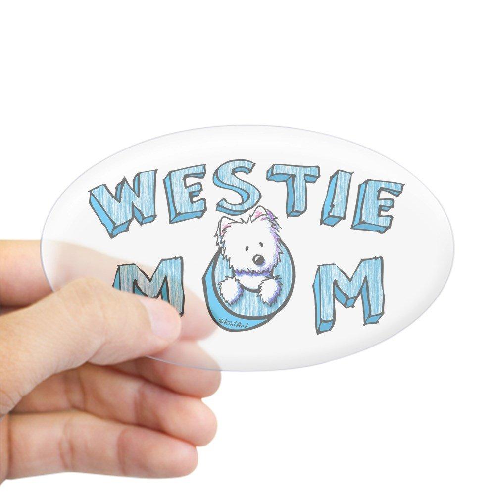 Amazon com cafepress kiniart westie mom sticker oval oval bumper sticker euro oval car decal home kitchen
