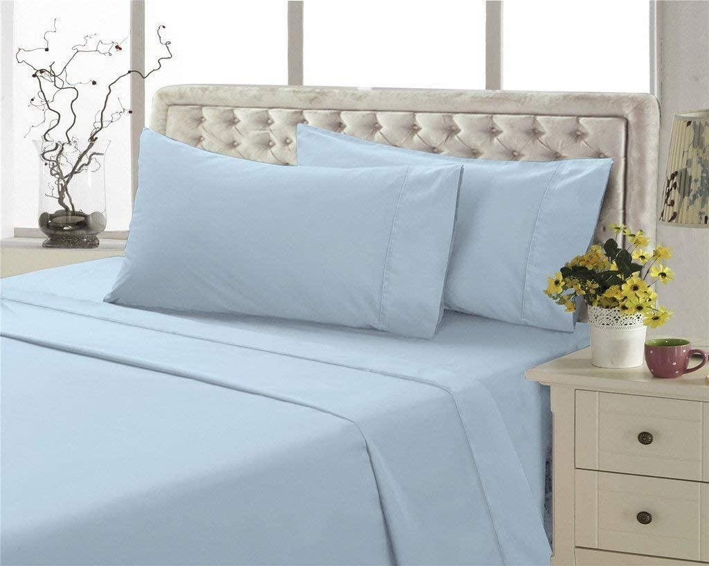 King Size 6-PCs Sheets Set { 1 Cheap super special price Flat Translated 55 Pillowcase } Fitted 4