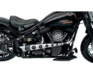 4. Covington 12122B True Dual 2:1 Exhaust Black for Harley Softail FXD FXR